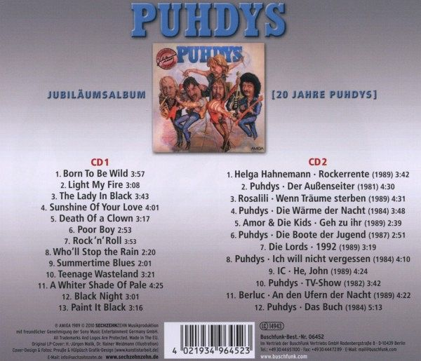 das jubil umsalbum puhdys 20 von puhdys auf audio cd portofrei bei b. Black Bedroom Furniture Sets. Home Design Ideas