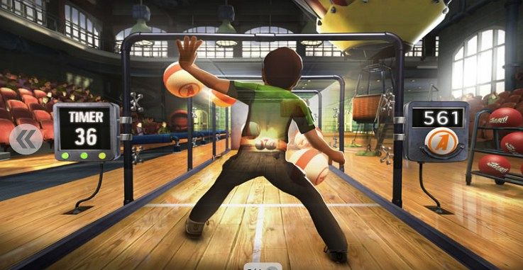 Xbox 360 arcade with kinect