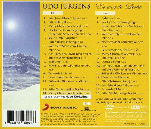 Udo Jürgens Weihnachtslieder.Es Werde Licht Meine Winter Weihnachtslieder