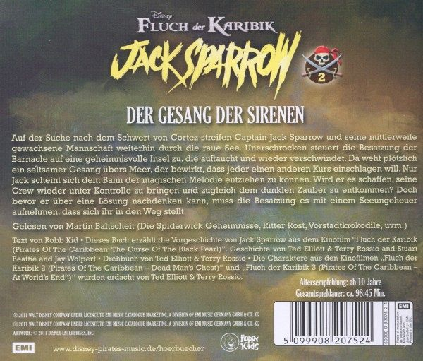 Disney fluch der karibik jack sparrow gesang