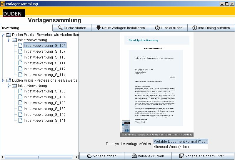Duden Vorlagensammlung Bewerbung Download Für Windows Bei