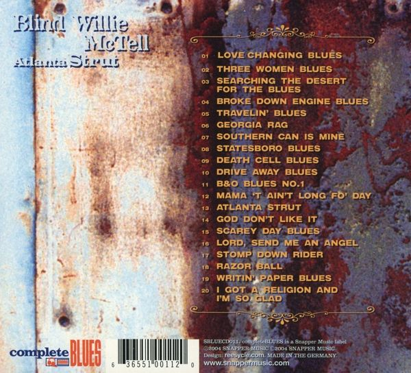 Atlanta Strut Von Blind Willie Mctell Cd Buecher De