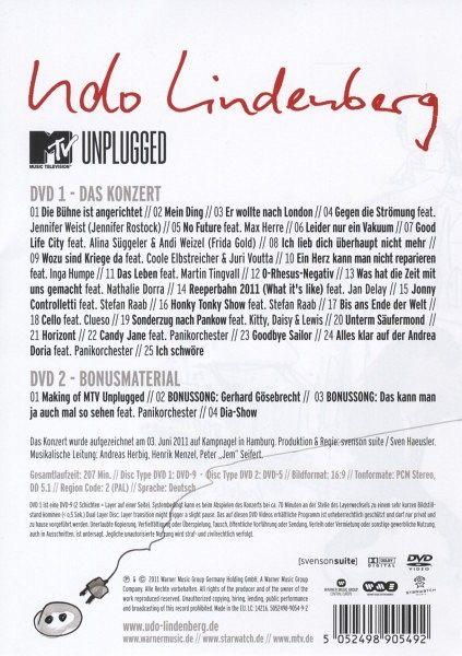 udo lindenberg mtv unplugged live aus dem hotel atlantic 2 discs film auf dvd. Black Bedroom Furniture Sets. Home Design Ideas