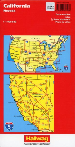 California, Nevada Straßenkarte 1:1 Mio., Road Guide Nr. 5