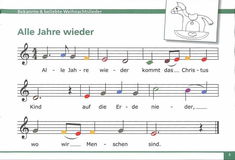 Weihnachtslieder Noten Für Glockenspiel.Meine Bunten Noten Für Das Glockenspiel