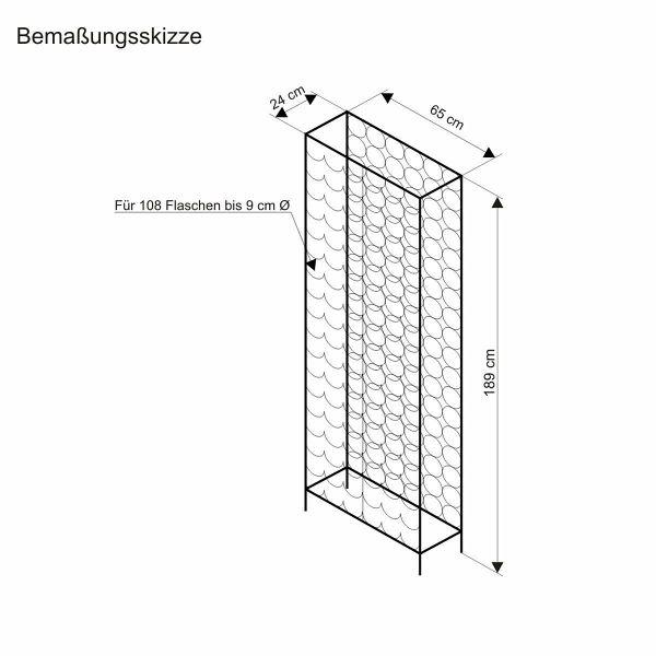 miavilla weinflaschenregal schwarz portofrei bei b. Black Bedroom Furniture Sets. Home Design Ideas