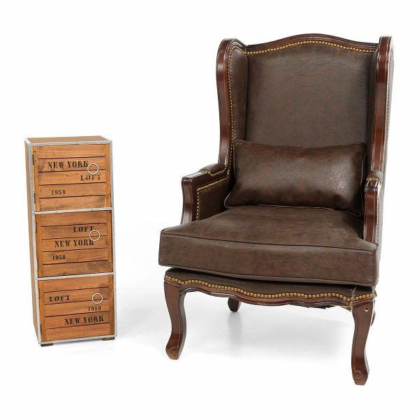 miavilla schrank new york mittel braun. Black Bedroom Furniture Sets. Home Design Ideas