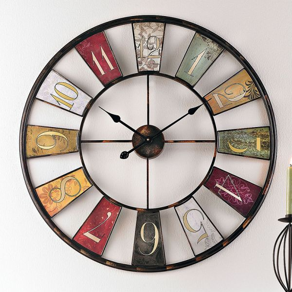 miavilla wanduhr wheel 80 cm portofrei bei b. Black Bedroom Furniture Sets. Home Design Ideas