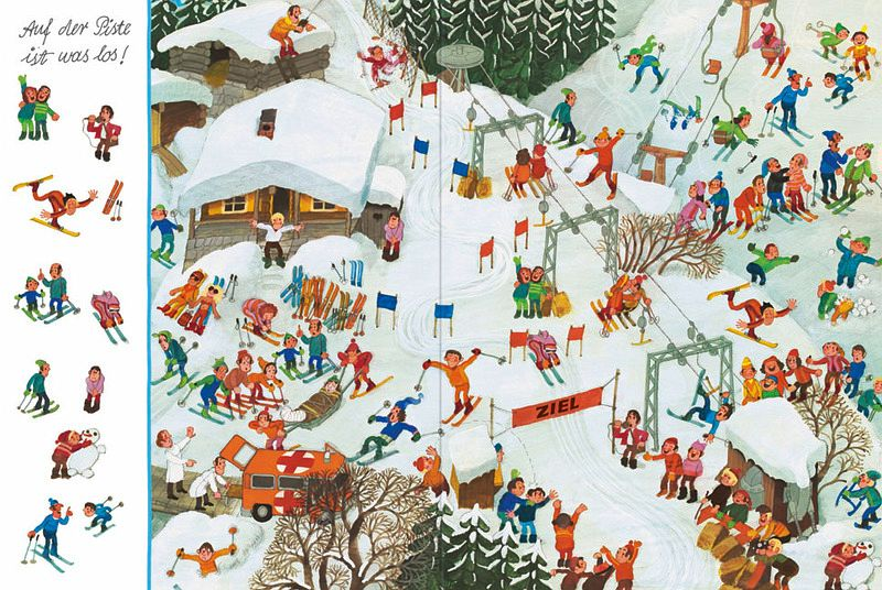wimmelbild winter