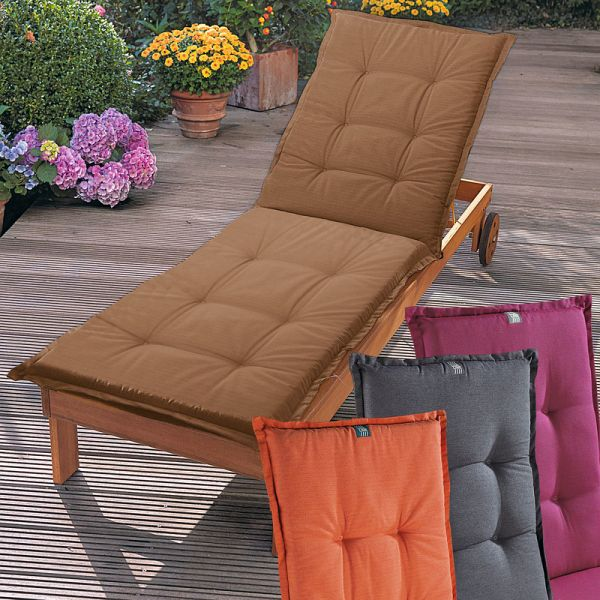 auflage f r sonnenliege grau. Black Bedroom Furniture Sets. Home Design Ideas