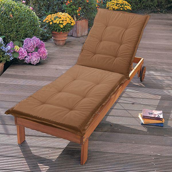 auflage f r sonnenliege terracotta. Black Bedroom Furniture Sets. Home Design Ideas