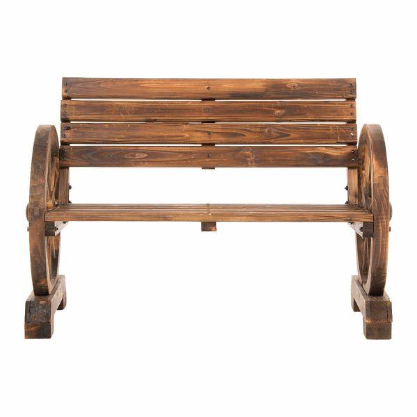 gartenbank holz wagenrad 203330 eine. Black Bedroom Furniture Sets. Home Design Ideas