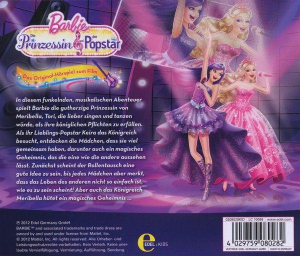 Edel kids barbie cd die prinzessin und der popstar original hörspiel