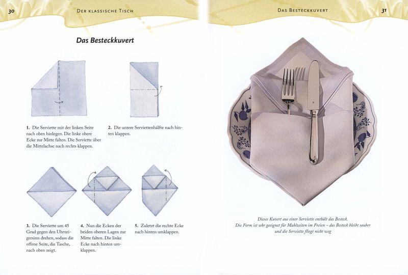 Pin servietten falten klassisch und modern on pinterest - Servietten falten modern ...