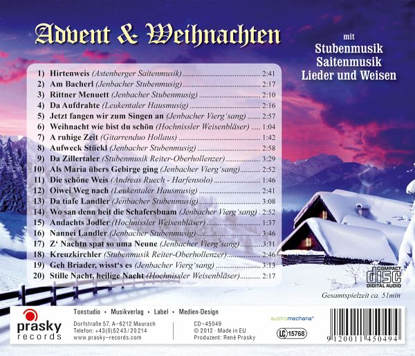advent weihnachten stubenmusik lieder cd. Black Bedroom Furniture Sets. Home Design Ideas