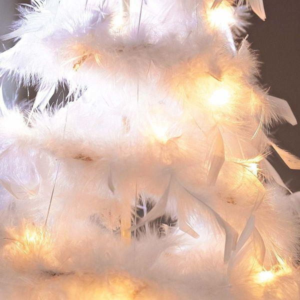 led deko objekt federtannenbaum wei gro portofrei bei b. Black Bedroom Furniture Sets. Home Design Ideas