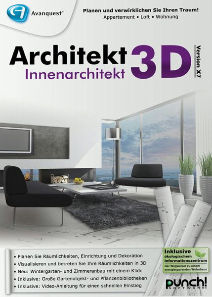 Architekt 3d x7 innenarchitekt pc software for Innenarchitektur 3d software
