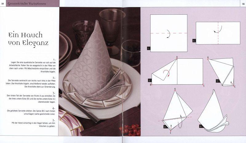 servietten falten buch b. Black Bedroom Furniture Sets. Home Design Ideas