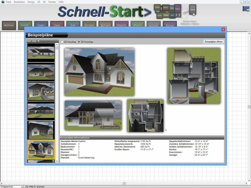 architekt 3d x7 essential download f r windows. Black Bedroom Furniture Sets. Home Design Ideas