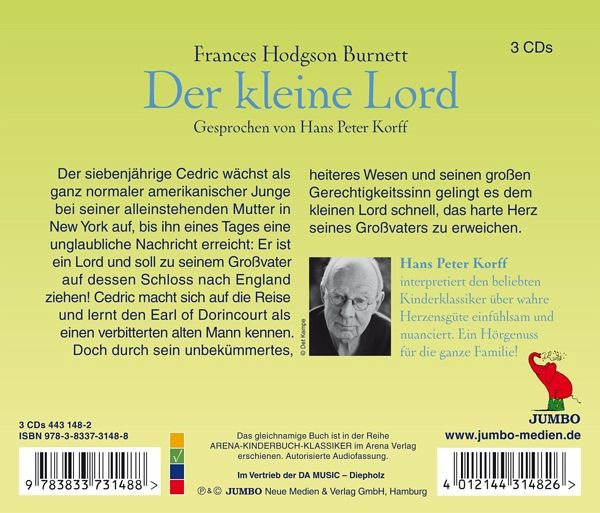 der kleine lord von hans peter korff cd. Black Bedroom Furniture Sets. Home Design Ideas