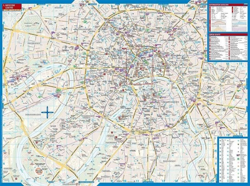 Borch Map Moscow / Mockba