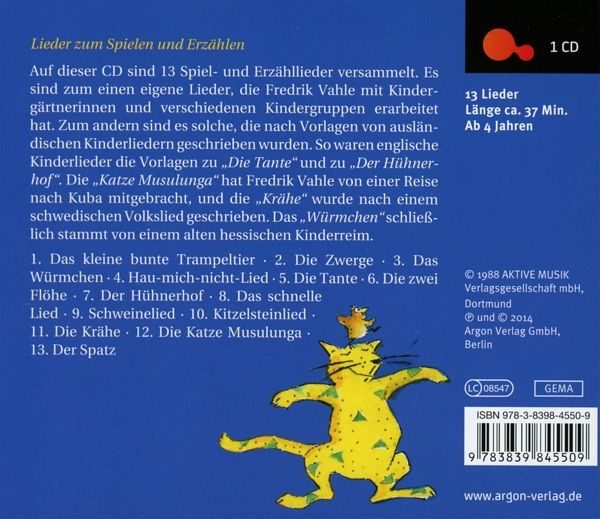 der spatz 1 audio cd von fredrik vahle h rbuch. Black Bedroom Furniture Sets. Home Design Ideas