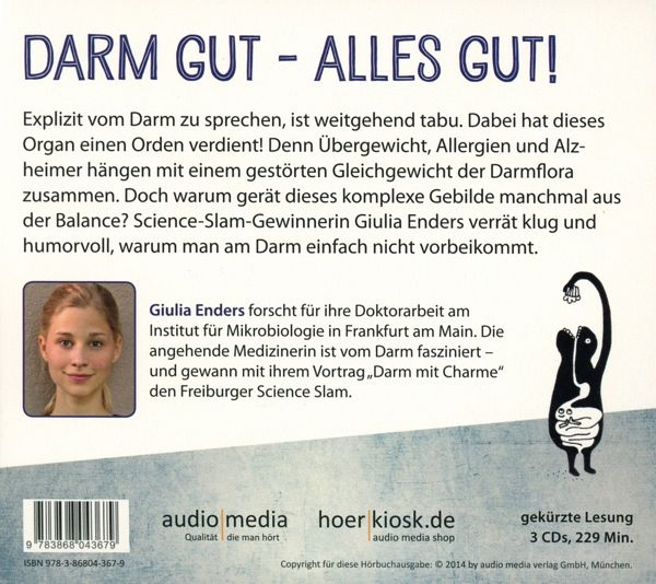 darm mit charme 3 audio cds von giulia enders h rbuch. Black Bedroom Furniture Sets. Home Design Ideas