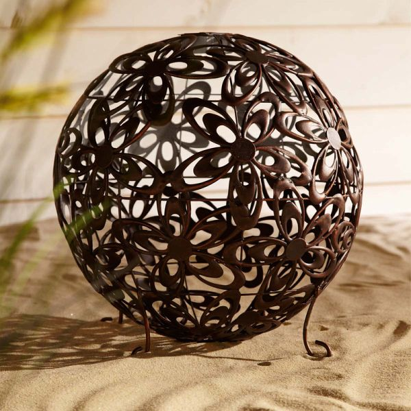 miavilla solarleuchte blumenkugel bronze 40 cm. Black Bedroom Furniture Sets. Home Design Ideas