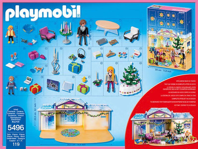 PLAYMOBILu00ae 5496 - Adventskalender u0026quot;Weihnachtsabendu0026quot; mit ...