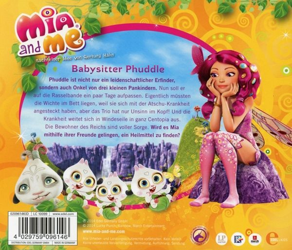 mia and me babysitter phuddle audio cd mia and me. Black Bedroom Furniture Sets. Home Design Ideas