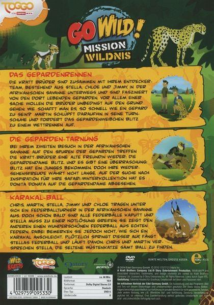 go wild mission wildnis folge 8 das gepardenrennen auf. Black Bedroom Furniture Sets. Home Design Ideas