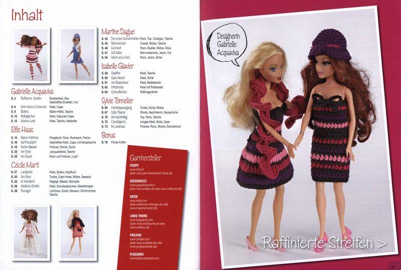 Strick- und Häkelchic für Modepuppen. Kleidung und Accessoires für ...