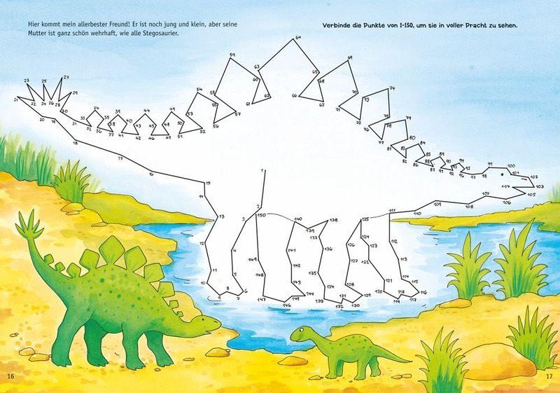 Der Kleine Dino Und Seine Freunde Von Punkt Zu Punkt