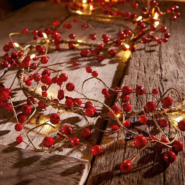 led lichterkette beeren rot. Black Bedroom Furniture Sets. Home Design Ideas