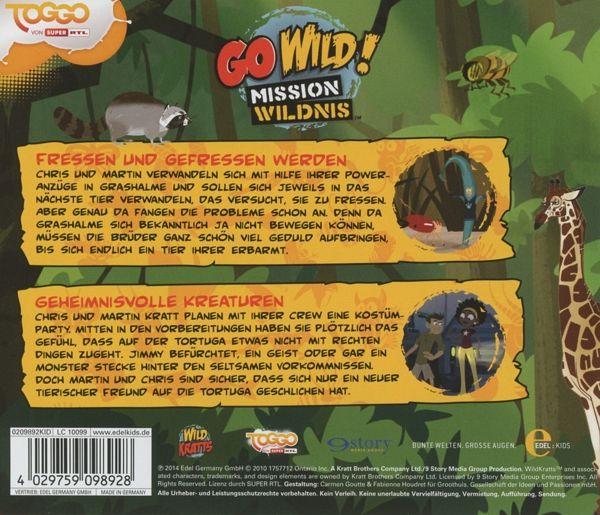 go wild mission wildnis kreaturen audio cd h rbuch. Black Bedroom Furniture Sets. Home Design Ideas