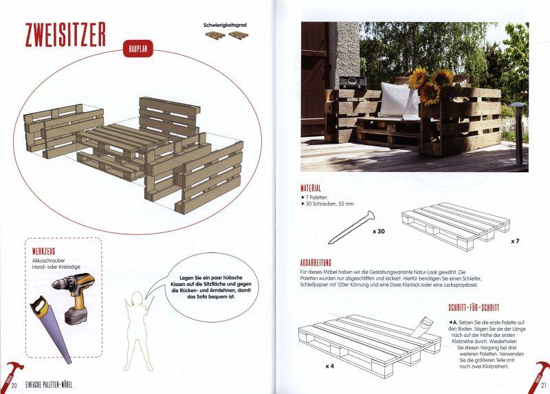 einfache paletten-möbel bauen von maud vignane; alban lecoanet, Gartenmöbel