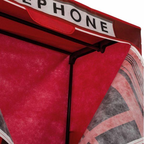 Kleiderschrank aus Stoff Design englische Telefonzelle Rot ...