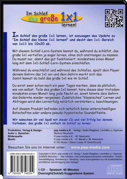 im schlaf das gro e 1x1 lernen audio cd von markus neumann h rbuch. Black Bedroom Furniture Sets. Home Design Ideas
