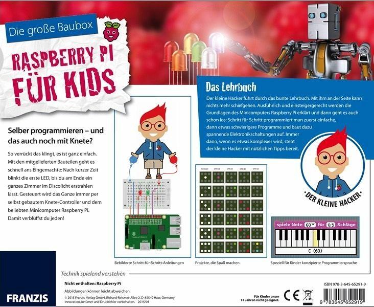 Für Kids Mütter Und Die Großen: Die Große Baubox Raspberry Pi Für Kids, M. CD-ROM Und