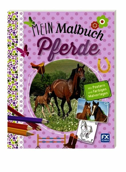 malbuch pferde