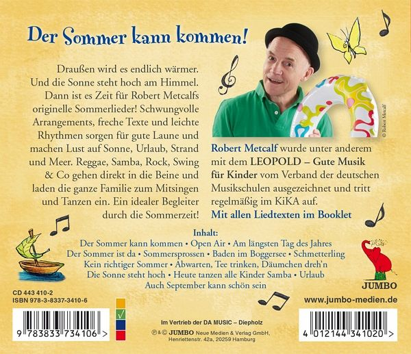 sommer samba sonnenschein gute laune songs von robert metcalf cd. Black Bedroom Furniture Sets. Home Design Ideas