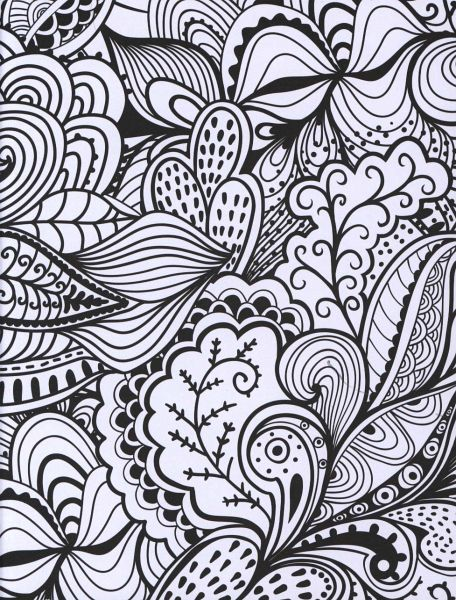 Husky Zentangle Coloring Page