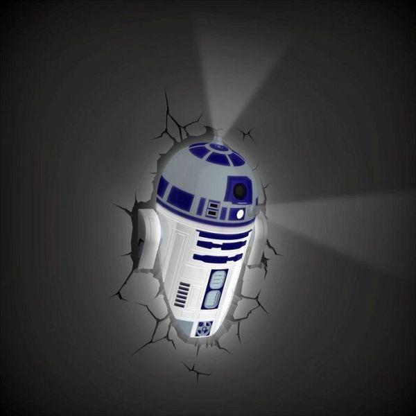 3d deko licht star wars r2 d2 inkl wandsticker for Star wars deko