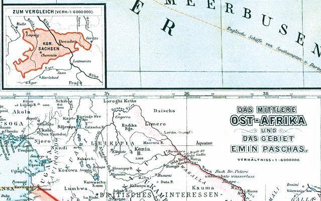 Karte Afrika Kolonien.Historische Karte Afrika 1890 Plano