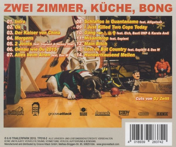 2 zimmer k che bong von timi hendrix auf audio cd. Black Bedroom Furniture Sets. Home Design Ideas