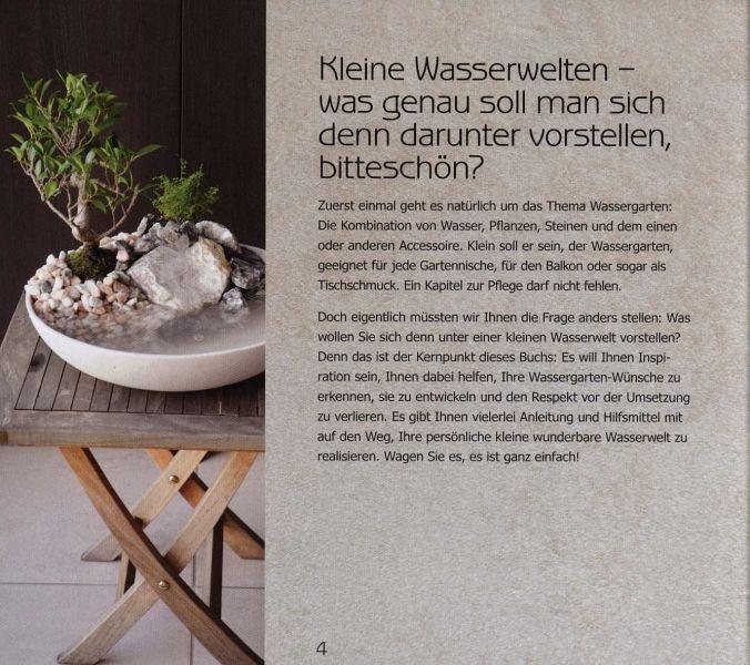 kleine wasserwelten f r drinnen drau en m ngelexemplar. Black Bedroom Furniture Sets. Home Design Ideas