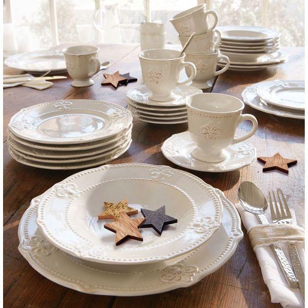 belacona kaffeeservice 18 tlg lilie creme portofrei. Black Bedroom Furniture Sets. Home Design Ideas
