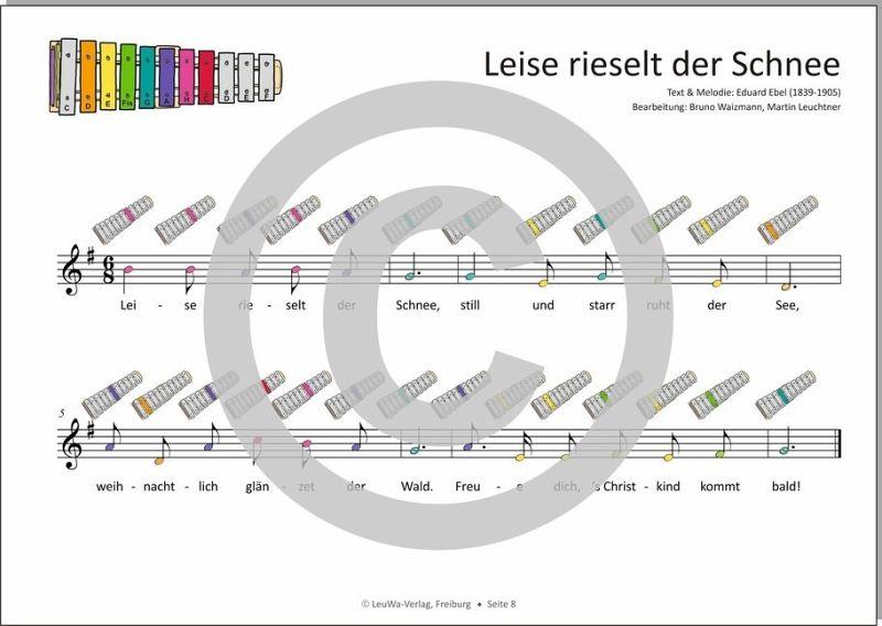 Weihnachtslieder Noten Für Glockenspiel.Einfacher Geht Nicht 24 Weihnachtslieder Für Das Sonor Bwg Boomwhackers Glockenspiel M 1 Audio Cd