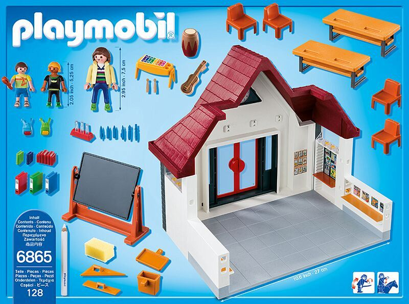 Playmobil 6865 schulhaus for Salle a manger playmobil city life