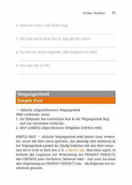 Englisch Regeln